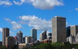 Cityscape Of Edmonton Alberta Stock Photos