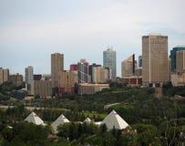 Cityscape Of Edmonton Alberta Royalty Free Stock Photo