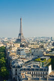 Cityscape with Eiffel Tower Stock Image