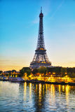 Cityscape with the Eiffel tower in Paris, France Royalty Free Stock Images
