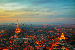 Cityscape with the Eiffel tower Royalty Free Stock Photography