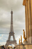 Cityscape with the Eiffel tower Royalty Free Stock Photos
