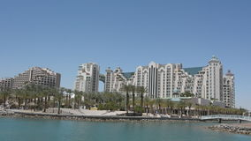 Cityscape of Eilat, Israel stock video