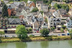 Cityscape of Ellenz-Poltersdorf at Moselle river Germany Stock Images