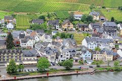 Cityscape of Ellenz-Poltersdorf at Moselle river Germany Royalty Free Stock Photography