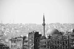Cityscape en Moskee stock afbeeldingen