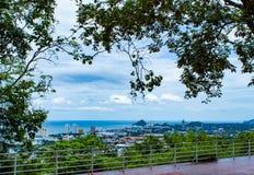 Cityscape en overzees van Hua Hin-stranden stock afbeelding