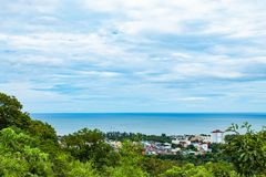 Cityscape en overzees van Hua Hin-stranden stock fotografie