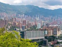 Cityscape en panoramamening van Medellin, Colombia Medellin is de second-largest stad in Colombia stock fotografie
