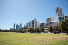 Cityscape en Park: Perth, Australië Stock Foto