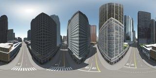 Cityscape. Environment map. HDRI map. Stock Photography