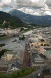 Cityscape of European town Stock Photo