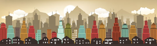 Cityscape in the evening Royalty Free Stock Photography