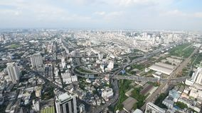 Cityscape, Expressway with traffic on road in Bangkok city Thailand. Bangkok, Thailand - August 29, 2016 : Cityscape, Expressway with traffic in Bangkok city stock video footage