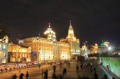 Cityscape för arkitektur för Shanghai Bund historisk royaltyfria bilder