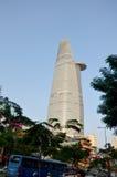 Cityscape för flyg- sikt av den Saigon staden Royaltyfria Bilder