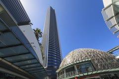 Cityscape för paradis för Gold Coast stadssurfare Arkivfoto