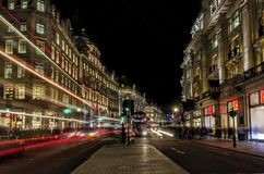 Night, long exposure, urban image in London Royalty Free Stock Photography