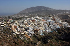 Cityscape of Fira. At summer, santorini, greece Stock Images
