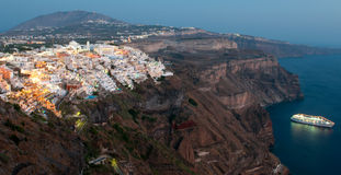 Cityscape of Fira , Santorini Royalty Free Stock Image