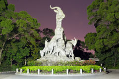 Cityscape of Five-Goat Statue royalty free stock photos
