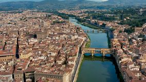 Cityscape of Florence. Aerial view stock video