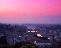 Cityscape, Florence, Italië. stock foto's