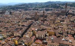 Cityscape of Florence, Italy Royalty Free Stock Photos