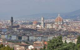 Cityscape of Florence, Italy with the Duomo Cathedral Royalty Free Stock Image