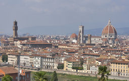 Cityscape of Florence, Italy with the Duomo Cathedral Royalty Free Stock Photography