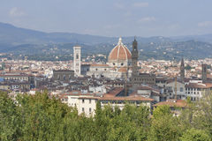 Cityscape of Florence, Italy with the Duomo Cathedral Stock Photo