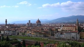Cityscape of Florence, Italy stock footage