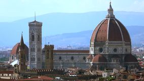 Cityscape of Florence, Italy stock video footage