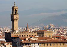 Cityscape of Florence with Palazzo Vecchio Royalty Free Stock Photos