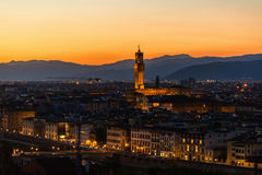 Cityscape of Florence at sunset Stock Image
