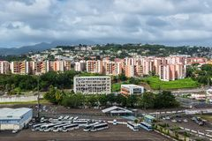 Cityscape of Fort-de-France, Martinique stock photo