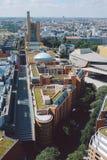 Cityscape från över på den Potsdam fyrkanten i Berlin arkivbilder