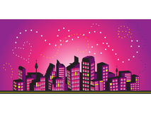 Cityscape frame, silhouettes Stock Photos