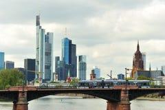 Cityscape of Frankfurt city in daytime stock photos
