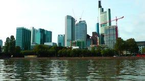 Cityscape Frankfurt Duitsland stock video