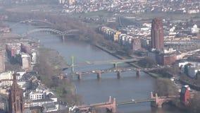 Cityscape Frankfurt Duitsland stock footage
