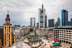 Cityscape of Frankfurt am Main Stock Photo