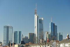 Cityscape of Frankfurt. Skyscrapers Royalty Free Stock Image