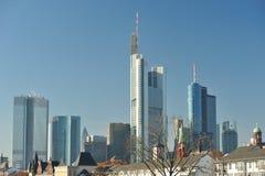 Cityscape of Frankfurt. Skyscrapers Royalty Free Stock Image