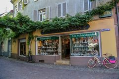 Cityscape in Freiburg Germany royalty free stock photo