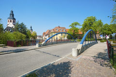 Cityscape with the Friedrichsbrücke in Ettlingen Royalty Free Stock Image