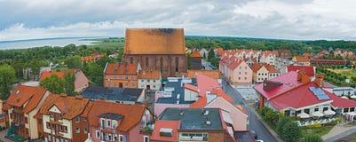 Cityscape Frombork Poland Stock Image