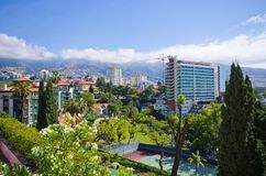Cityscape of Funchal - Madeira island, Portugal Stock Photography