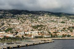 Cityscape of Funchal, Madeira Island, Portugal Royalty Free Stock Images