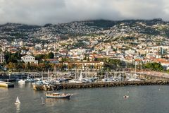 Cityscape of Funchal, Madeira Island, Portugal Stock Photos